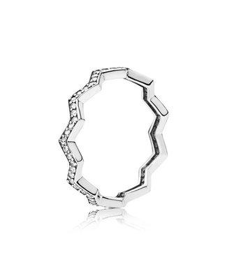 Pandora Zig Zag ring with zirconia 197751CZ