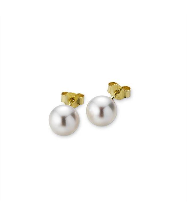 Gellner Pearls H2O stud earrings, yellow gold 5-16258-02
