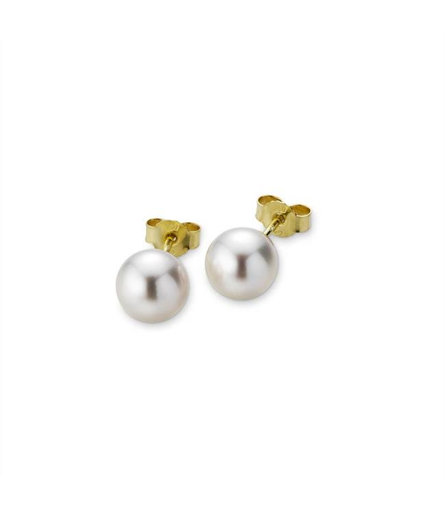 H2O stud earrings, yellow gold 5-16258-02