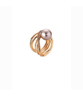 Gellner Pearls Wave ring, rose gold intensiv 5-17860-24