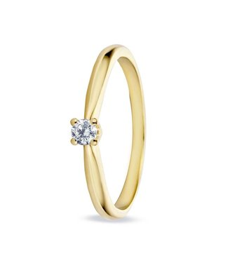 Miss Spring ring 18kt Solitair Max V-chaton geelgoud MSR525GG