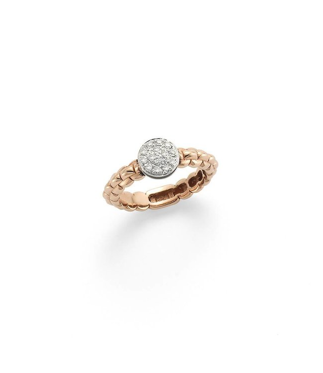 Fope ring roosgoud Eka Tiny AN736 PAVE