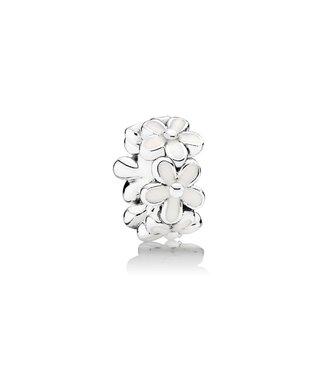Pandora Daisy silver spacer with white enamel 791495EN12