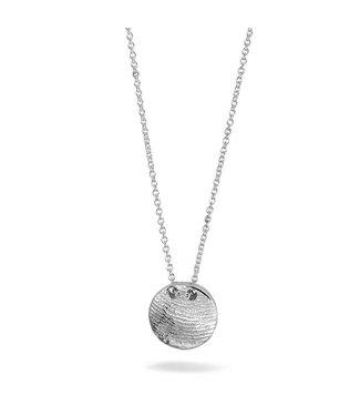 See You Gedenksieraden hanger fingerprint silver/gold 411 S