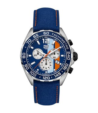 Tag Heuer Formula 1 Gulf Special Edition heren horloge CAZ101N.FC8243