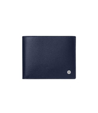 Montblanc Leather 4810 Westside Wallet 8CC Blue 118656