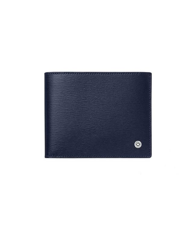 Montblanc Leather 4810 Westside Wallet 8CC Blue 118656