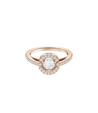Swarovski Sparkling DC ring Round rose