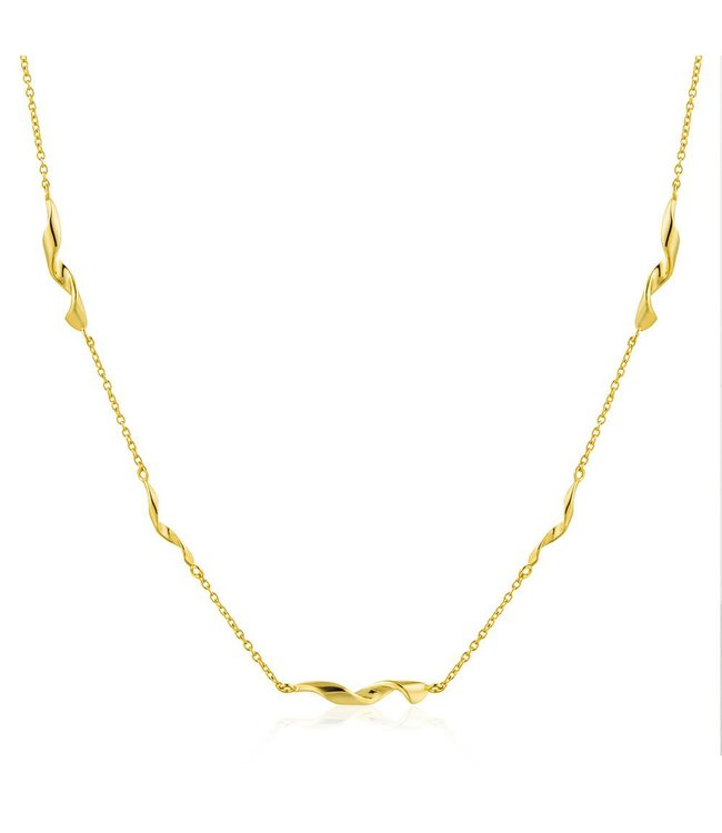 """Ania Haie Twister Helix 15"""" necklace gold N012-02G"""