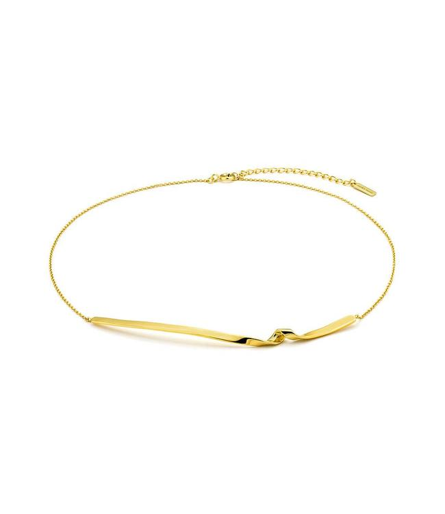 "Ania Haie Twister Twist 14"" necklace gold N012-03G"