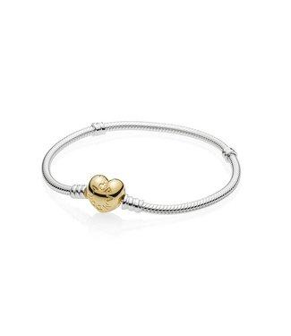 Pandora Heart Shaped silver bracelet with Pandora Shine 560719