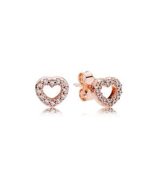 Pandora Captured Hearts stud earrings 280528CZ