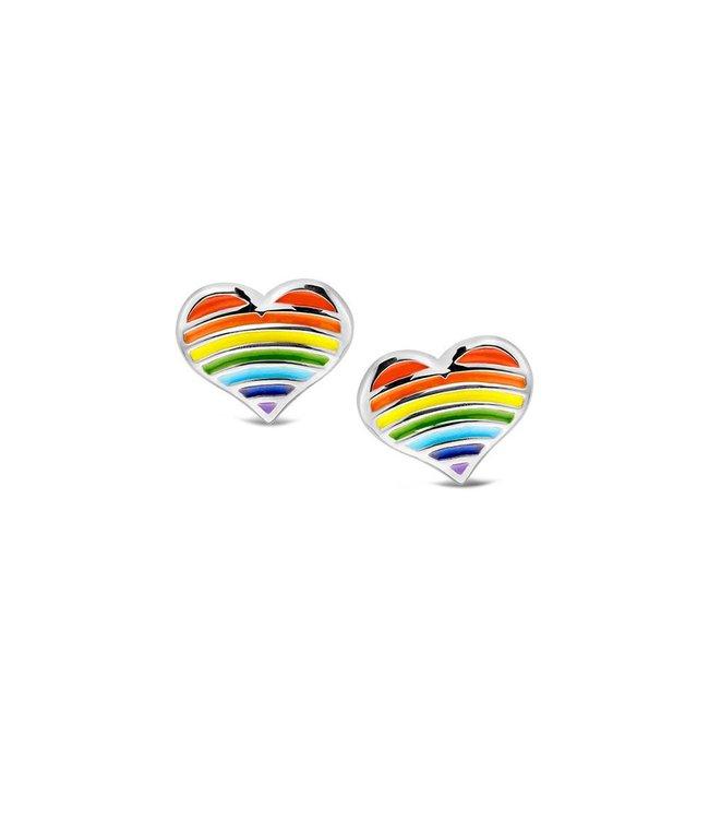 Orage Kids & Teenz oorbellen Hart Multicolor O/3448