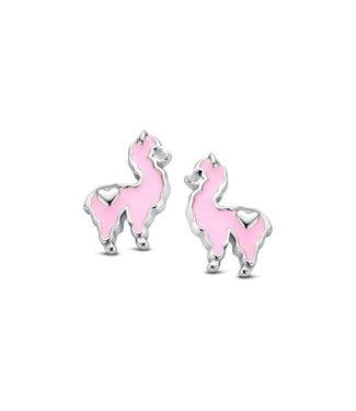 Orage Kids oorbellen Lama roze O/3467