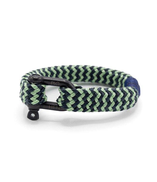 Pig & Hen Gorgeous George Mint Green Slate Gray Stripe/Black