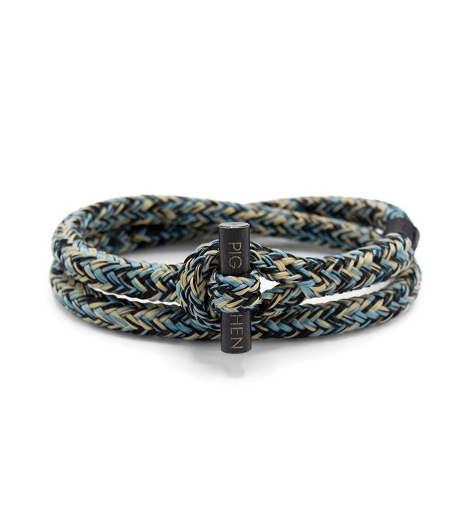 Pig & Hen Tiny Ted Sky Blue Black Sand/Black