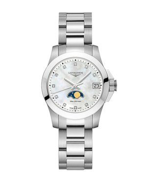 Longines Conquest Diamond dames horloge L33804876