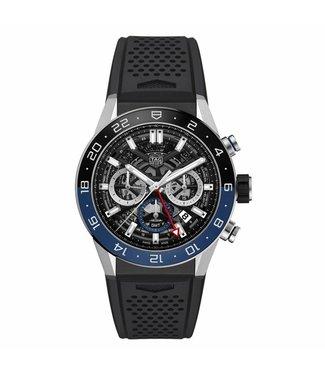 Tag Heuer Carrera Tourbillon Heuer 02 Automatic Chronograph GMT heren horloge CBG2A1Z.FT6157