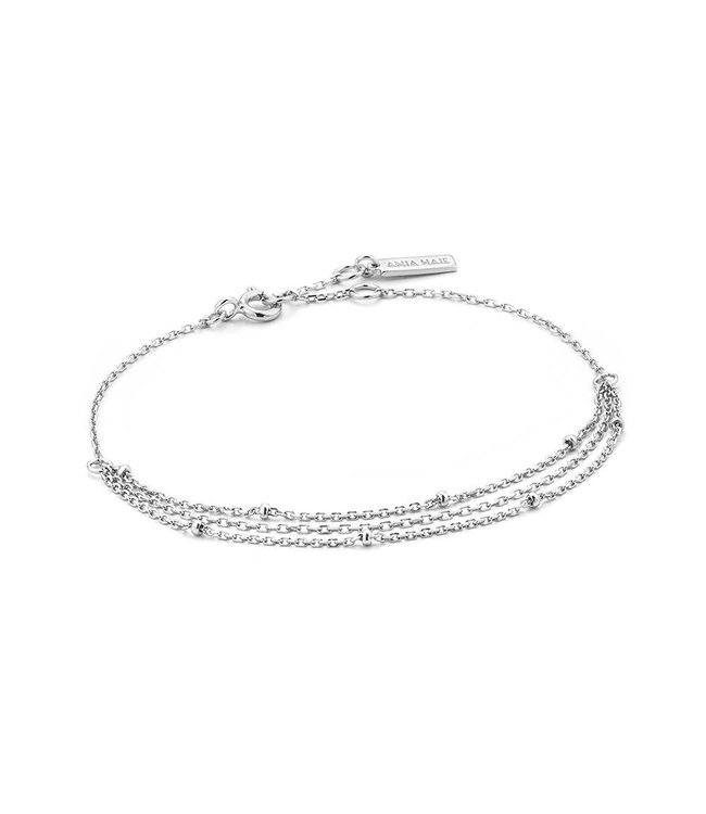 Ania Haie Fringing Draping Swing bracelet silver B013-02H