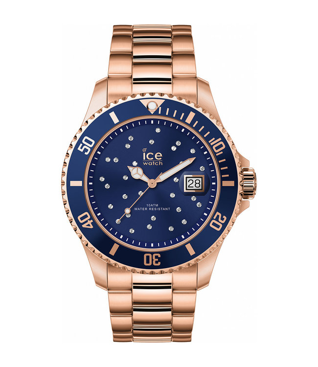Ice Watch Ice Steel - Blue Cosmos Rose-gold - Medium 016774