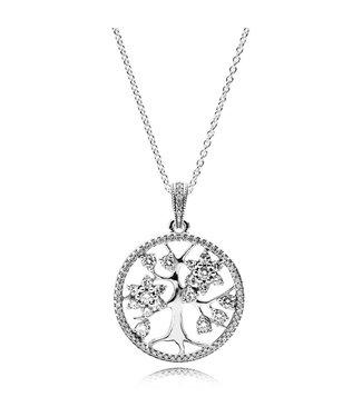 Pandora Sparkling Family Tree necklace 390384CZ