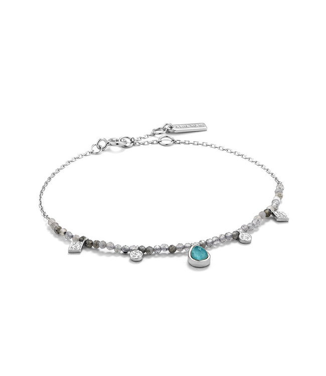 Ania Haie Mineral Glow Turquoise Labradorite bracelet silver B014-03H