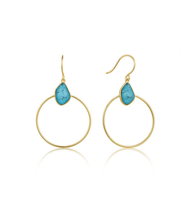 Ania Haie Mineral Glow Turquoise Front hoop earrings E014-02G