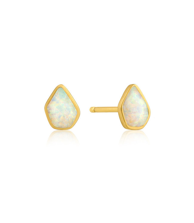 Ania Haie Mineral Glow Opal stud earrings gold E014-03G