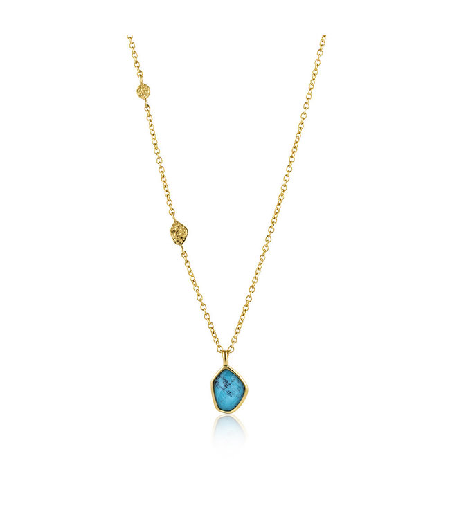 Ania Haie Mineral Glow Turquoise pendant gold N014-02G
