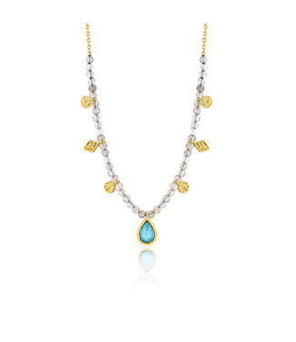 Ania Haie Mineral Glow Turquoise Labradorite necklace gold N014-03G