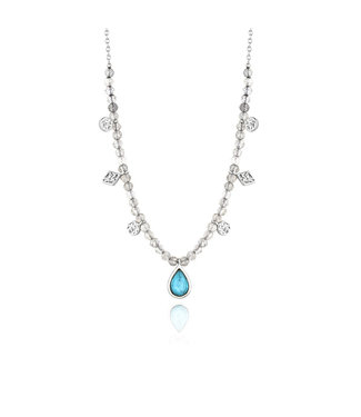 Ania Haie Mineral Glow Turquoise Labradorite necklace silver N014-03H