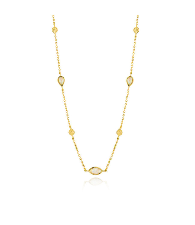 Ania Haie Mineral Glow Opal necklace gold N014-04G