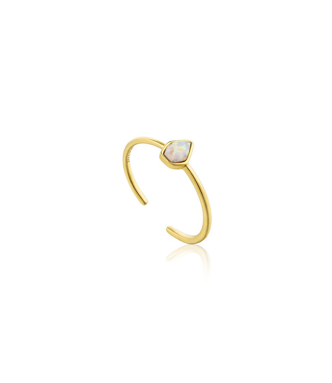 Ania Haie Mineral Glow Opal adjustable ring gold R014-03G