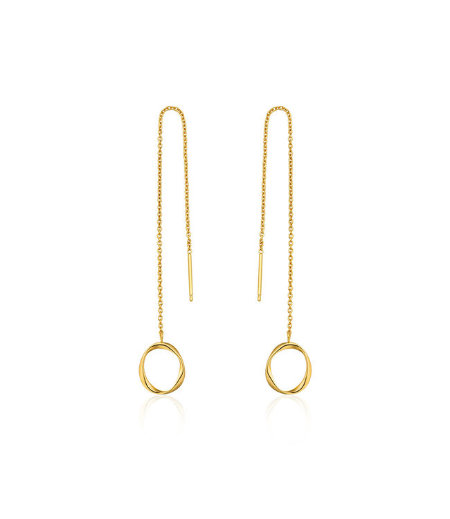 Ania Haie Twister Swirl Threader earrings gold E015-03G