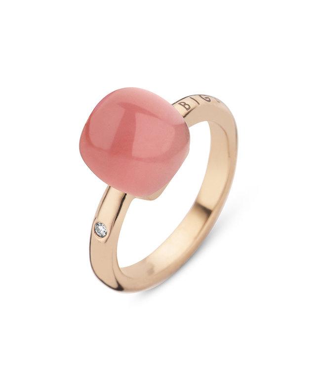 Bigli ring Mini Sweety Milky quartz with Coral 20R88Rqlapc
