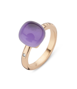 Bigli ring Mini Sweety Amethyst with mother of pearl 20R88Rammp
