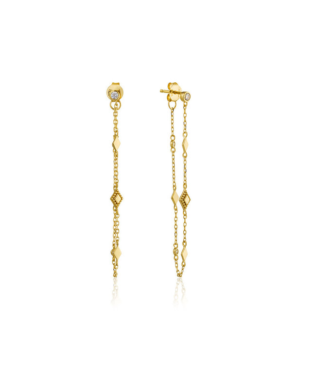 Ania Haie Bohemia Chain stud earrings gold E016-04G