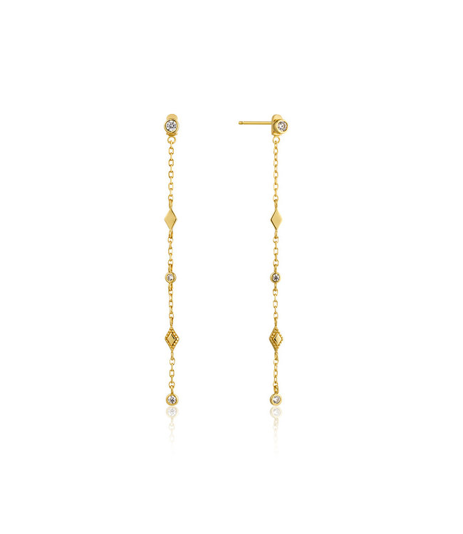 Ania Haie Bohemia Shimmer drop earrings gold E016-06G