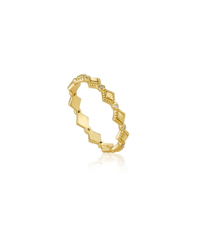 Ania Haie Bohemia ring gold R016-02G