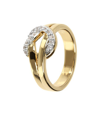 Bronzallure Knot ring with pave WSBZ01451Y.W