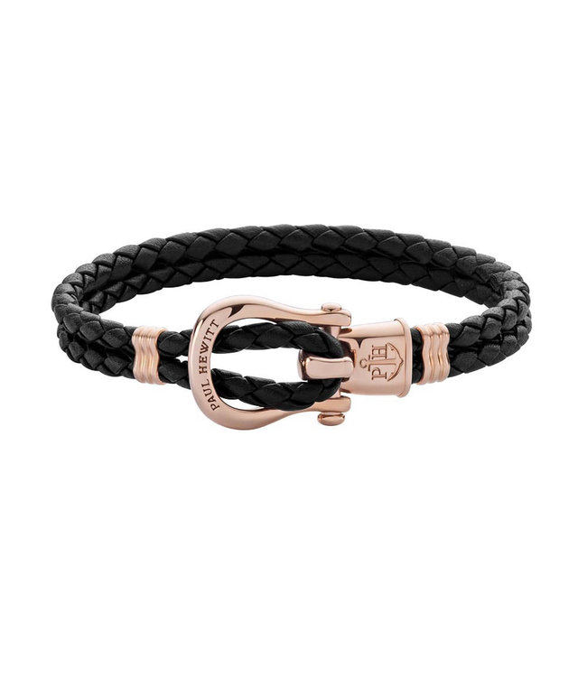 Paul Hewitt Phinity Shackle leather bracelet PH-FSH-L-R-B