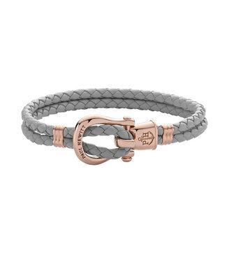 Paul Hewitt Phinity Shackle leather bracelet PH-FSH-L-R-Gr
