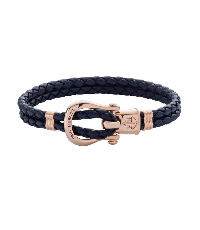 Paul Hewitt Phinity Shackle leather bracelet PH-FSH-L-R-N