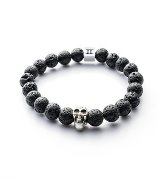 Gemini Skull Black Lava
