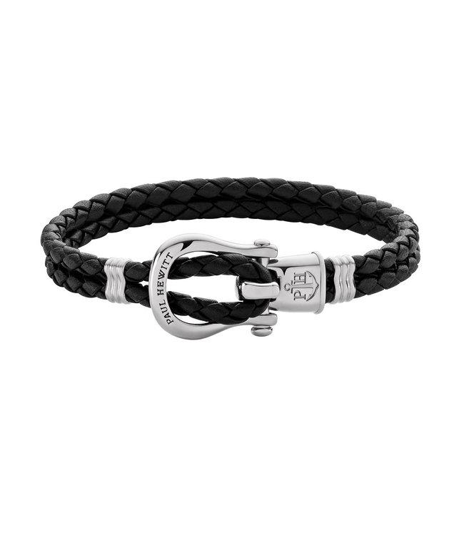 Paul Hewitt Phinity Shackle leather bracelet PH-FSH-L-S-B