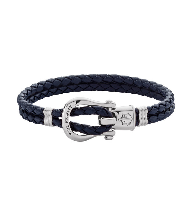 Paul Hewitt Phinity Shackle leather bracelet PH-FSH-L-S-N