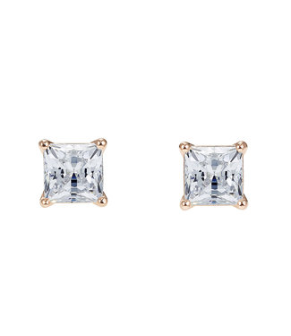 Swarovski Attract pierced earrings Square rose 5509935