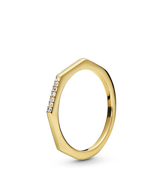 Pandora Multifaceted stackable ring 168739C01
