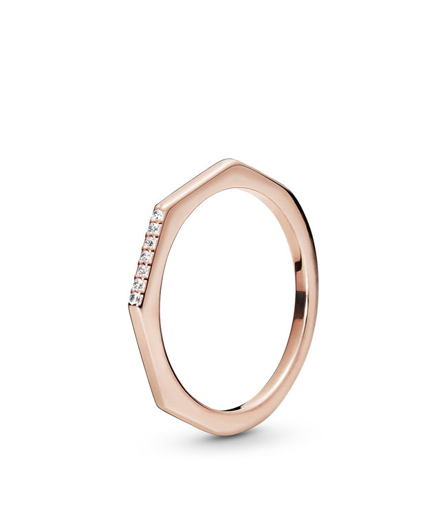 Pandora Multifaceted stackable ring 188343CZ
