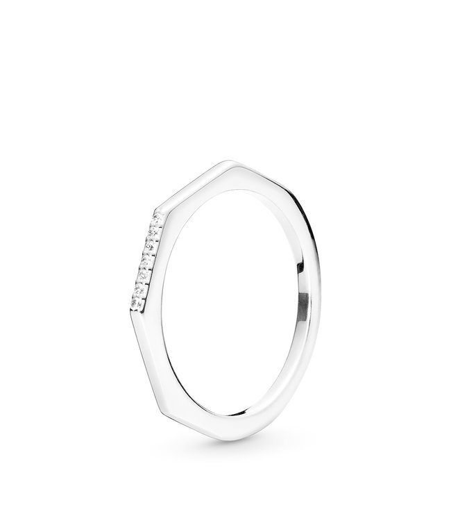 Pandora Multifaceted stackable ring 198343CZ